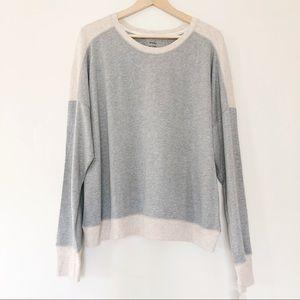 NWT | DKNY | Grey & Tan Color Block Sweatshirt